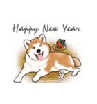 秋田犬の年末年始スタンプⅡ(個別スタンプ:3)
