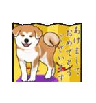 秋田犬の年末年始スタンプⅡ(個別スタンプ:4)