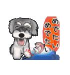 シュナウザー犬の年末年始スタンプⅡ(個別スタンプ:5)