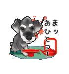 シュナウザー犬の年末年始スタンプⅡ(個別スタンプ:7)