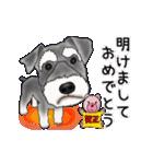 シュナウザー犬の年末年始スタンプⅡ(個別スタンプ:9)