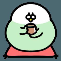 [LINEスタンプ] ( ˙˙)むっちりインコ