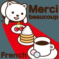 毎日使えるしろくまちゃん フランス語版3