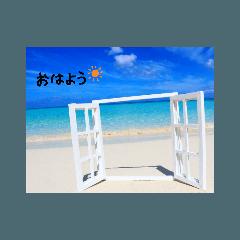 沖縄風景スタンプ♡日常挨拶