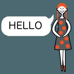 大人女子の為のシンプルスタンプ