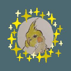 5分以内で描かれた鳥。