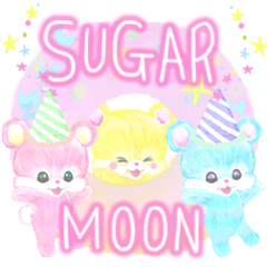 [LINEスタンプ] sugarmoon4 happy