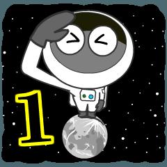 [LINEスタンプ] 宇宙チャレンジャー<1>月へ!