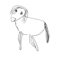 画伯(母63歳)の動物スタンプ