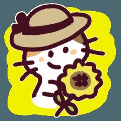 三毛猫のロロちゃん 夏の日