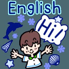 夏の!英語のあいさつスタンプ!!BOY