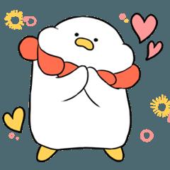 ペンギンと花