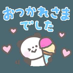 ゆるほわパンダ☆カラフルデカ文字