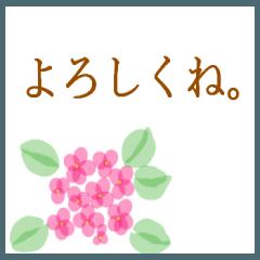 [LINEスタンプ] 伝えたい想いに可愛い花を添えて第14弾。