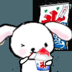 ふわ耳うさぎのウサギの夏の日々 暑中見舞