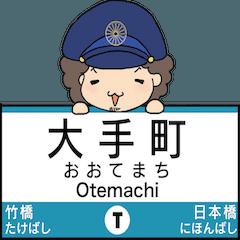 ぱんちくん駅名スタンプ〜東京東西線〜