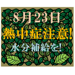 熱中症注意!<8月-日別>葉っぱ