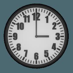 シンプルなアナログ時計