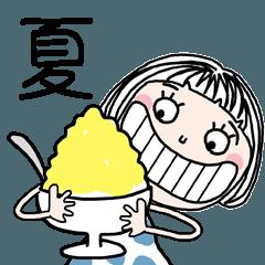 ボブガール☆夏スタンプ