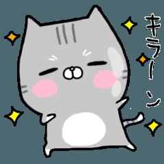 のほほん猫(サバ白)