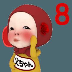 レッドタオル#8【父ちゃん】名前スタンプ