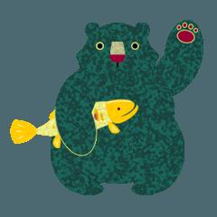 シャケとクマ