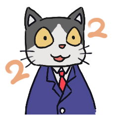 スーツ猫(ハチワレ)その2