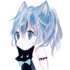 動く!青猫ガール