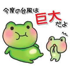 カエルのお天気【台風~秋】