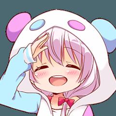 パンダパーカーの笹熊くらんちゃん