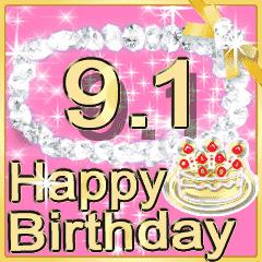 ▷輝く9月1日~15日 お誕生日☆お祝い