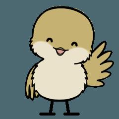 小さな和鳥の日常スタンプ