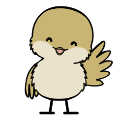 小さな和鳥の日常スタンプ(リメイク版)