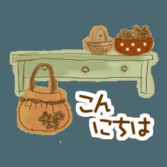 雑貨が好きな人のための癒しスタンプ~秋~