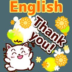 [LINEスタンプ] 英語のありがとう!感謝の言葉