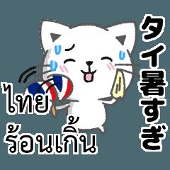 タイ語と日本語夏の暑い・猛暑のときに