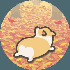 1コギの動く秋スタンプ