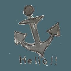 船 船乗り 船旅 スタンプ