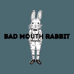 [LINEスタンプ] Bad mouth Rabbit(バッドマウスラビット) (1)