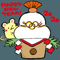 クリスマス&お正月(2020年子年)スタンプ