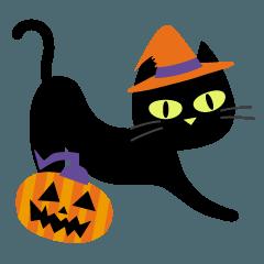 黒猫のハロウィン.