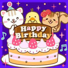 [LINEスタンプ] 大人のための動く誕生日・お祝いスタンプ