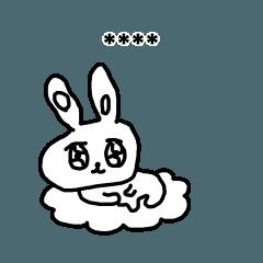[LINEスタンプ] 心を失いかけてるうさぎ19/カスタム
