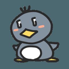 空を泳ぐペンギン