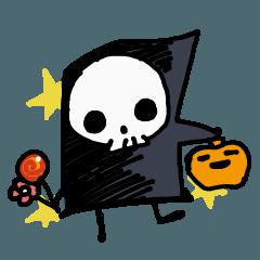 小さなガイコツちゃんのハロウィン