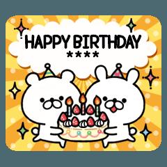 【名前が入れられる!】誕生日&お祝い
