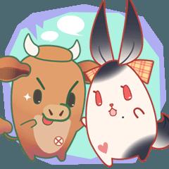 兎と牛の日常