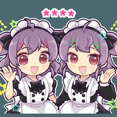 双子のメイド カスタムスタンプ
