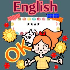 大人女子の英語の挨拶!!カスタムスタンプ