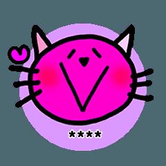 カラフルcatのカスタムスタンプ!!